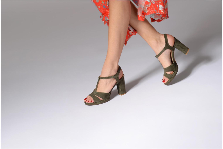 Sandales et nu-pieds Georgia Rose Lapatou Vert vue bas / vue portée sac