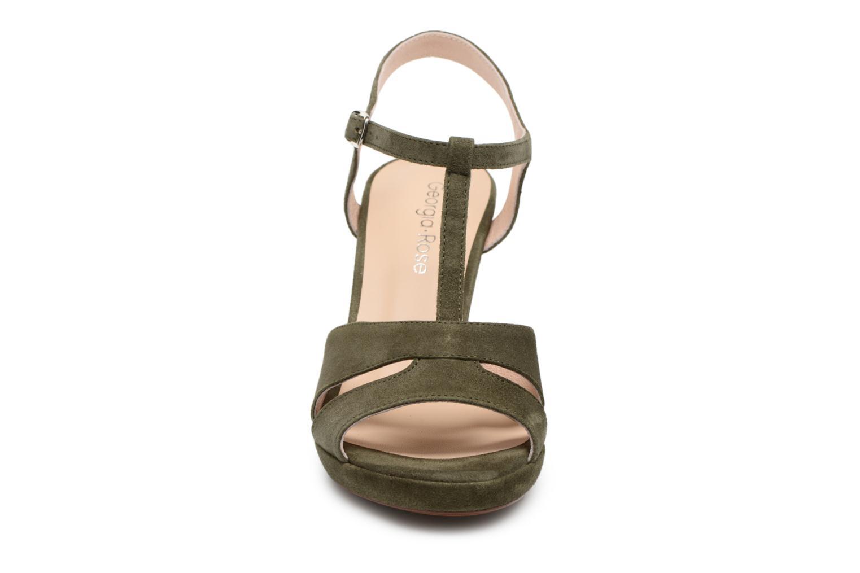 Sandales et nu-pieds Georgia Rose Lapatou Vert vue portées chaussures