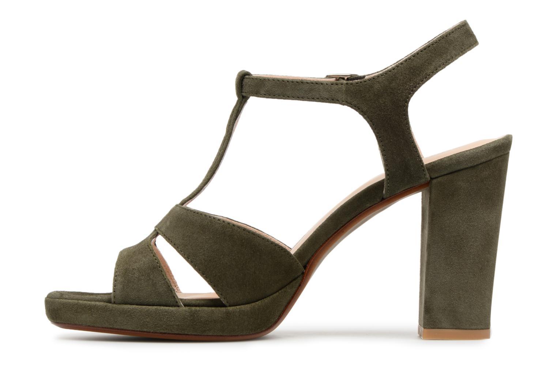 Sandales et nu-pieds Georgia Rose Lapatou Vert vue face