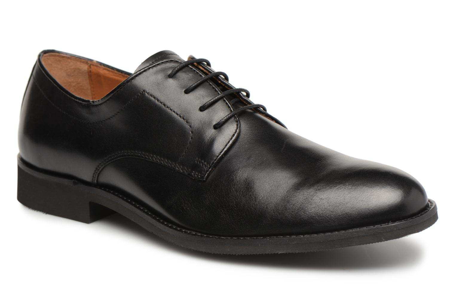 Lace-up shoes Stonefly Casey 1 Black detailed view/ Pair view