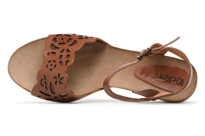 Sandales et nu-pieds Kickers Simply Marron vue gauche