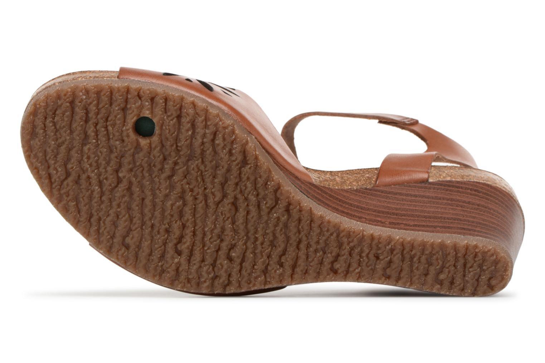 Sandales et nu-pieds Kickers Simply Marron vue haut