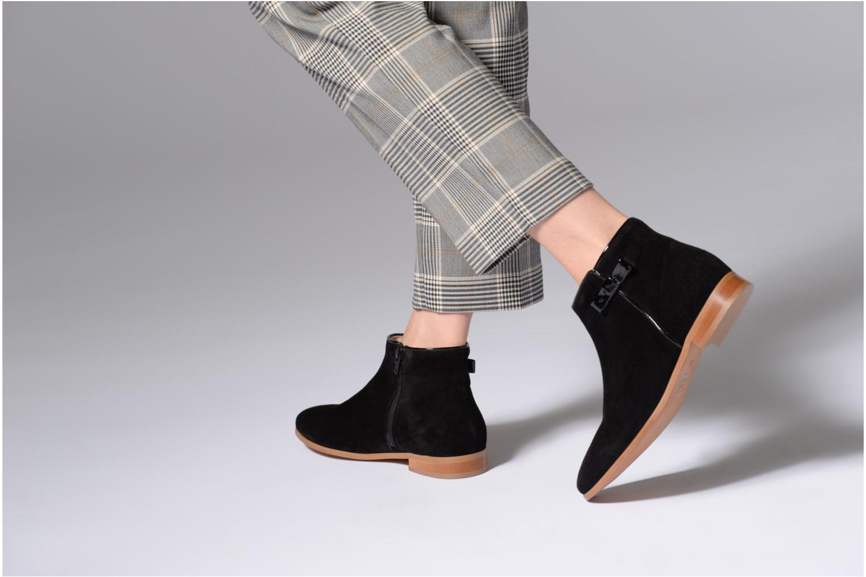 Bottines et boots Georgia Rose Stanoeud Noir vue bas / vue portée sac