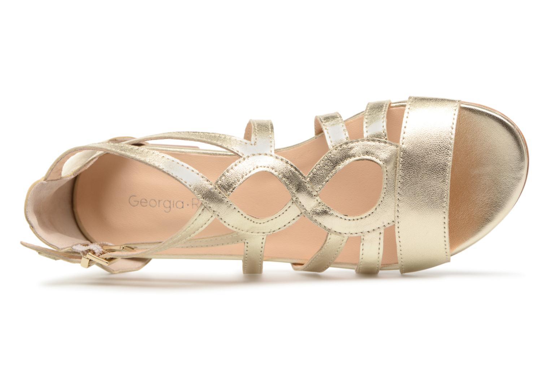 Sandales et nu-pieds Georgia Rose Stephou Or et bronze vue gauche