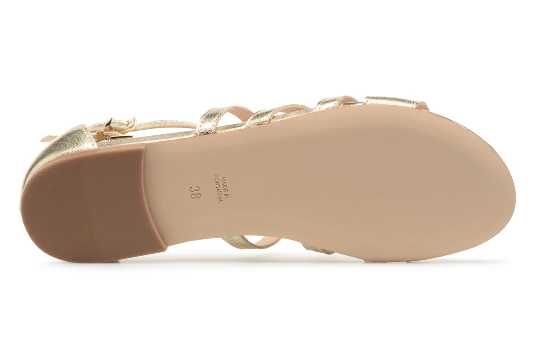 Sandales et nu-pieds Georgia Rose Stephou Or et bronze vue haut