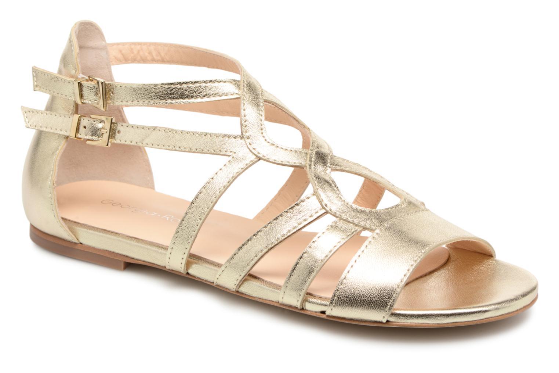Sandales et nu-pieds Georgia Rose Stephou Or et bronze vue détail/paire