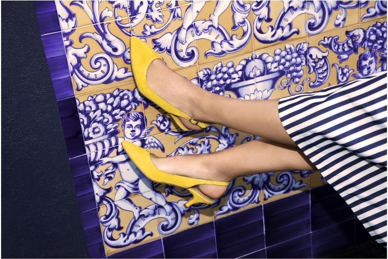 Escarpins Georgia Rose Sokit Bleu vue bas / vue portée sac