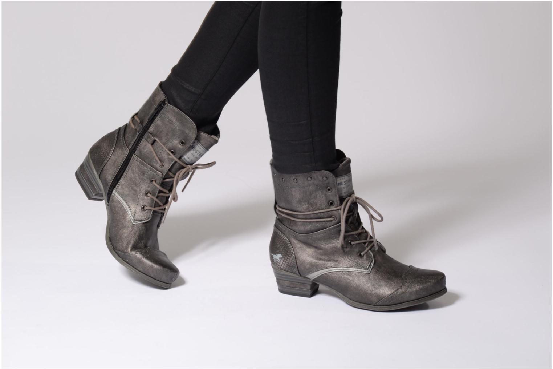 Bottines et boots Mustang shoes 1187517 Damen Schnür-Stiefelette Gris vue bas / vue portée sac
