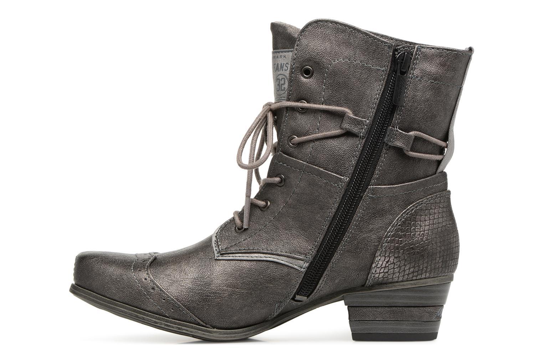 Bottines et boots Mustang shoes 1187517 Damen Schnür-Stiefelette Gris vue face