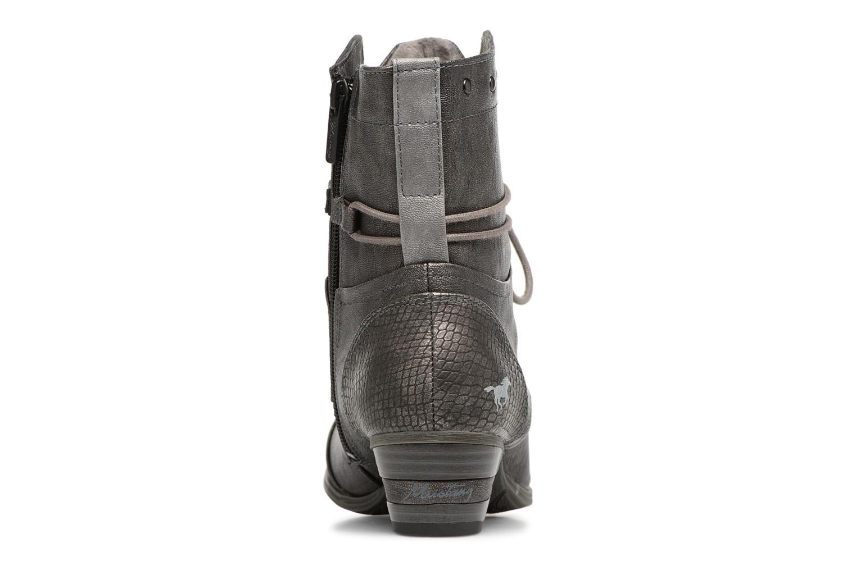 Bottines et boots Mustang shoes 1187517 Damen Schnür-Stiefelette Gris vue droite