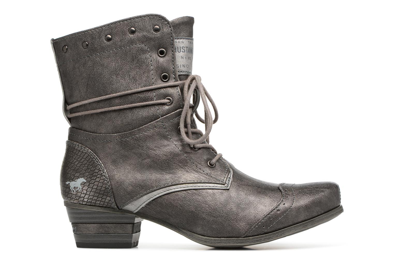 Bottines et boots Mustang shoes 1187517 Damen Schnür-Stiefelette Gris vue derrière