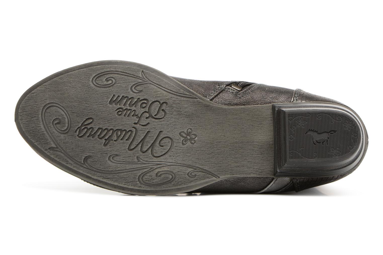 Bottines et boots Mustang shoes 1187517 Damen Schnür-Stiefelette Gris vue haut