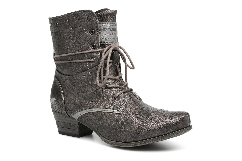 Bottines et boots Mustang shoes 1187517 Damen Schnür-Stiefelette Gris vue détail/paire