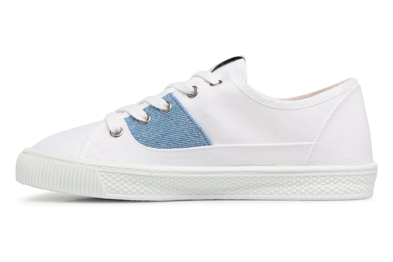 Sneakers Levi's Malibu Lady Patch Bianco immagine frontale