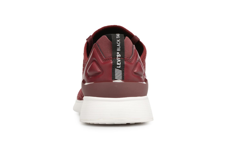 Black Tab Sneaker Dark Bordeaux