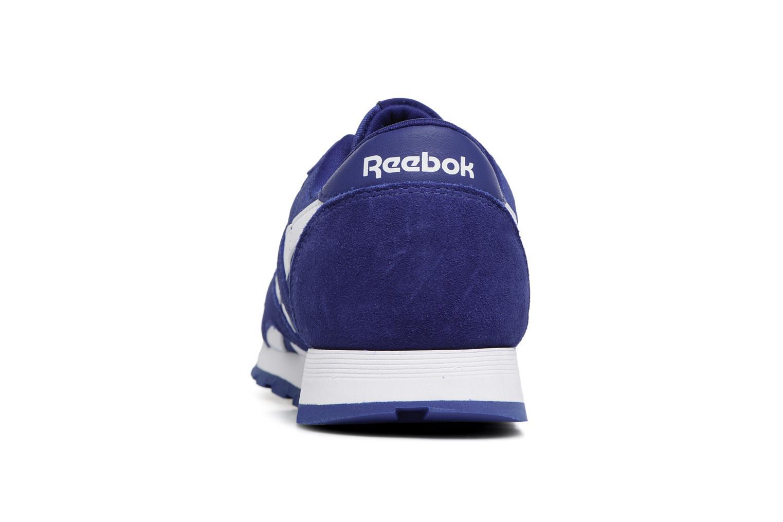 Baskets Reebok CL NYLON 1 Bleu vue droite