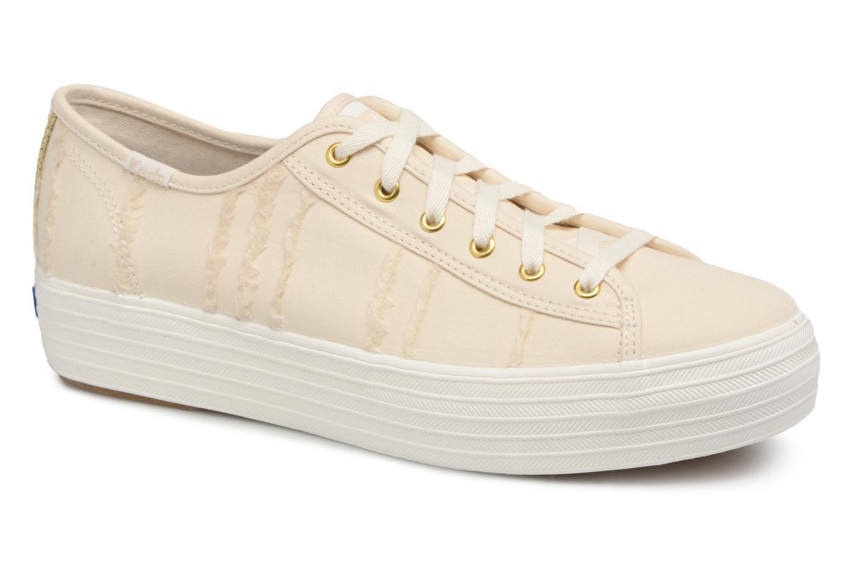 Grandes descuentos últimos zapatos Keds Triple Kick Eyelash Canvas (Beige) - Deportivas Descuento