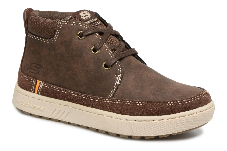 Chaussures à lacets Skechers Direct Pulse Marron vue détail/paire
