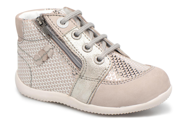 Bottines et boots Kickers Baraka Kids Gris vue détail/paire