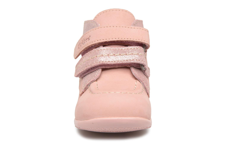 Bottines et boots Kickers Bonkro Rose vue portées chaussures