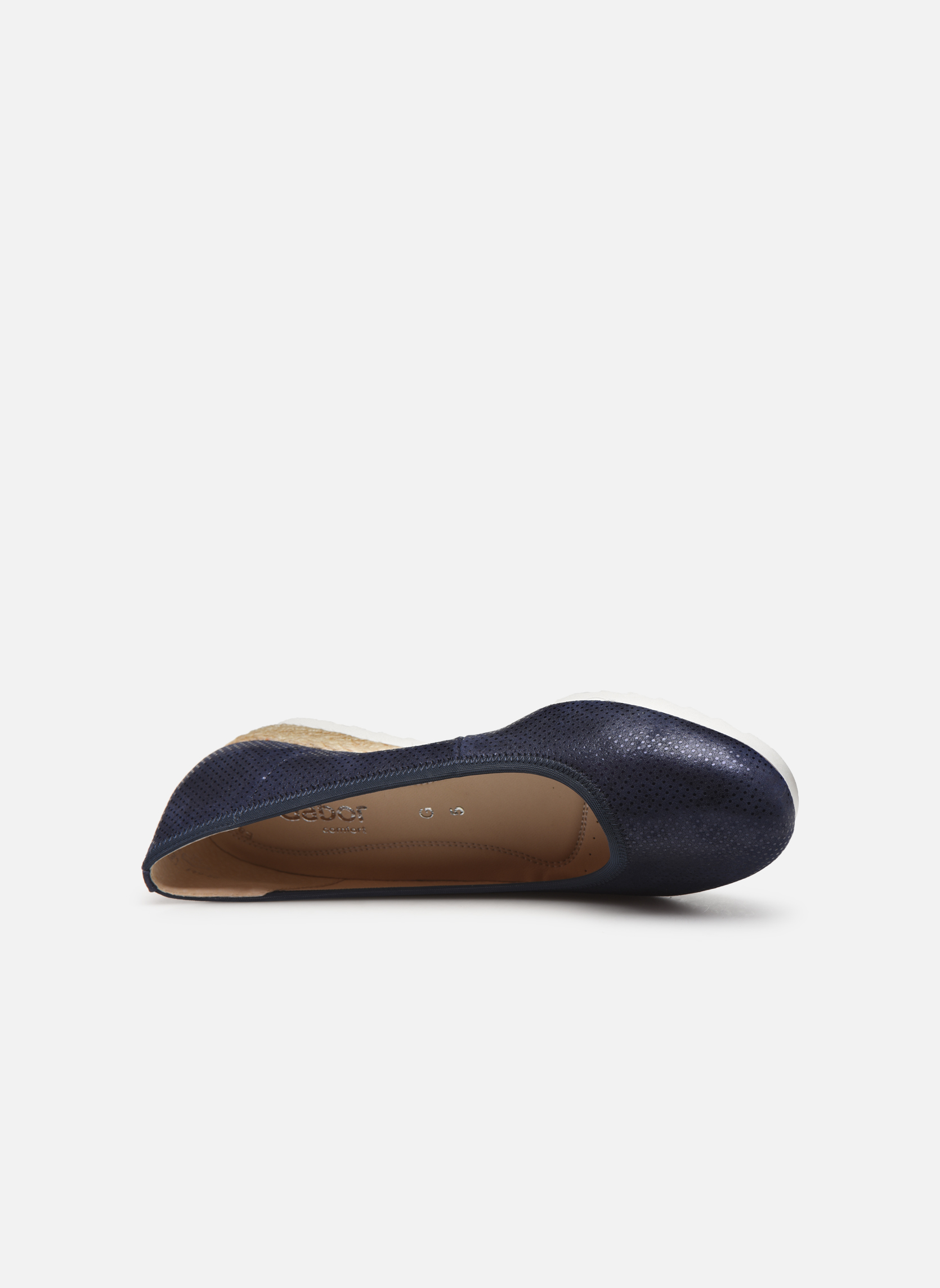Ballet pumps Gabor Novara Blue view from the left