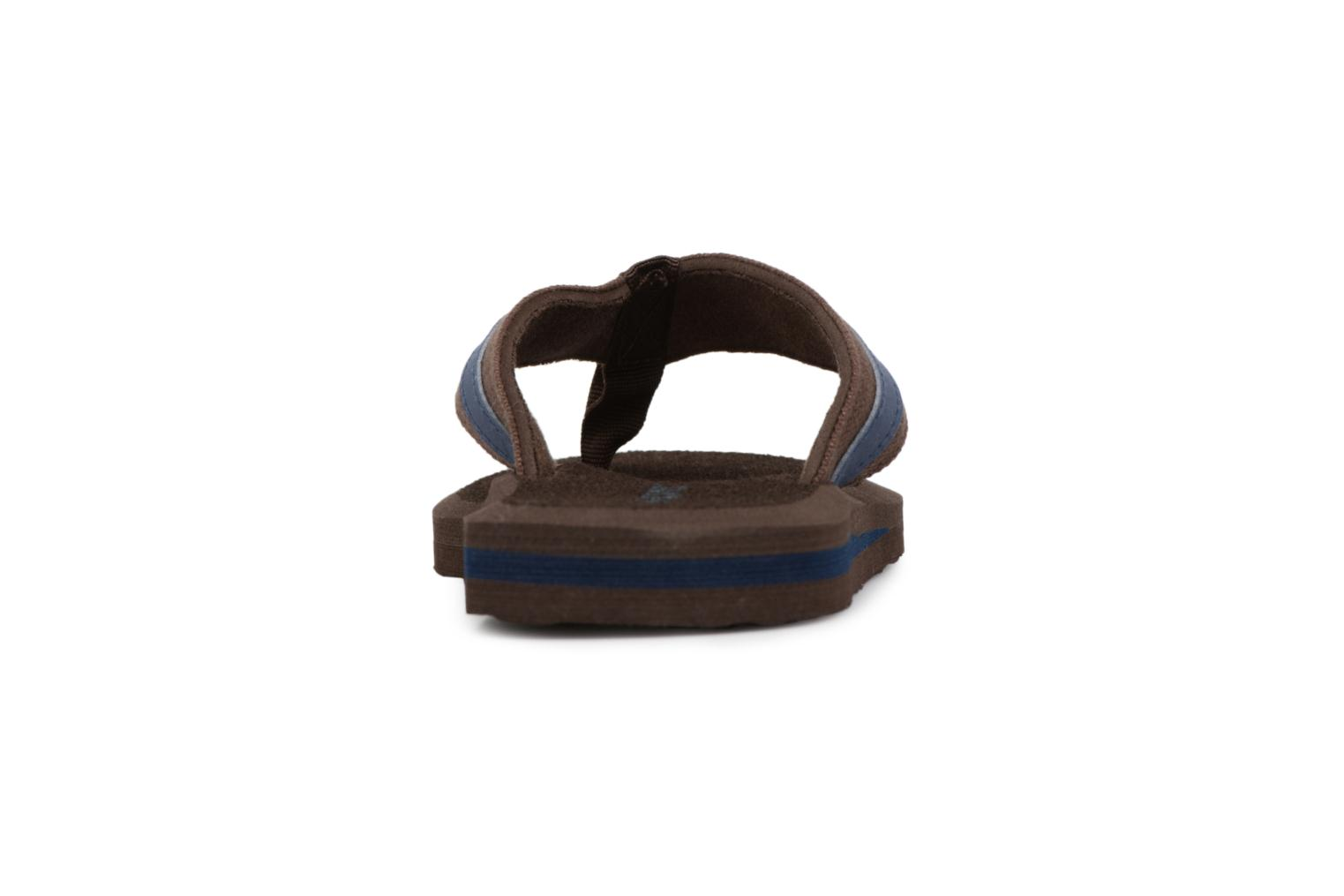 Flip flops Isotoner Tong Yoga confort Brown view from the right