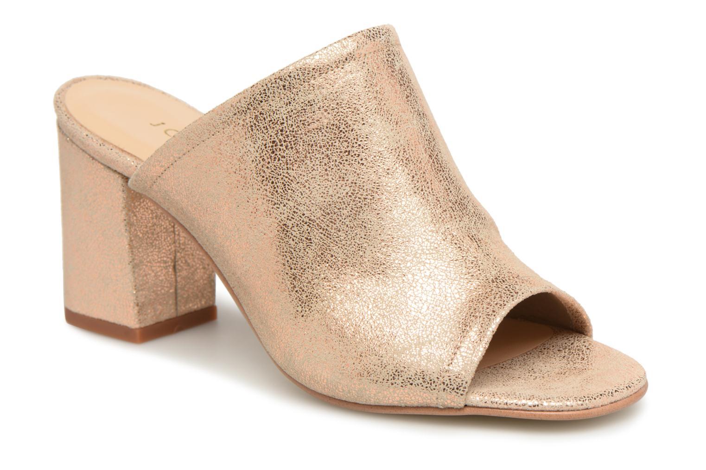 ed02570973a ... Marques Chaussure femme Jonak femme DECHA Croute laminée cobre Sandales  Entredoigts En Cuir LH Noir ...
