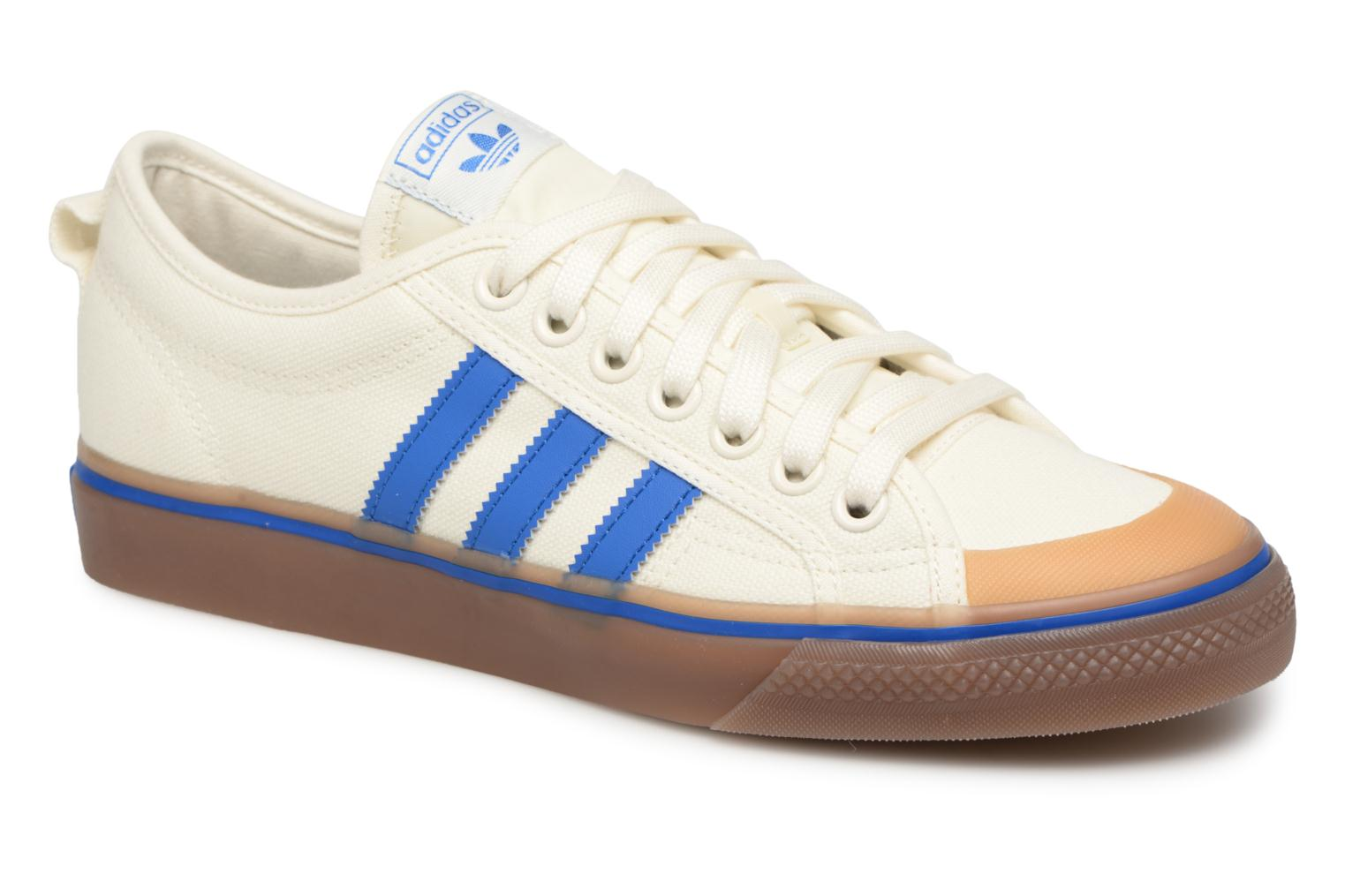 Baskets Adidas Originals NIZZA Blanc vue détail/paire