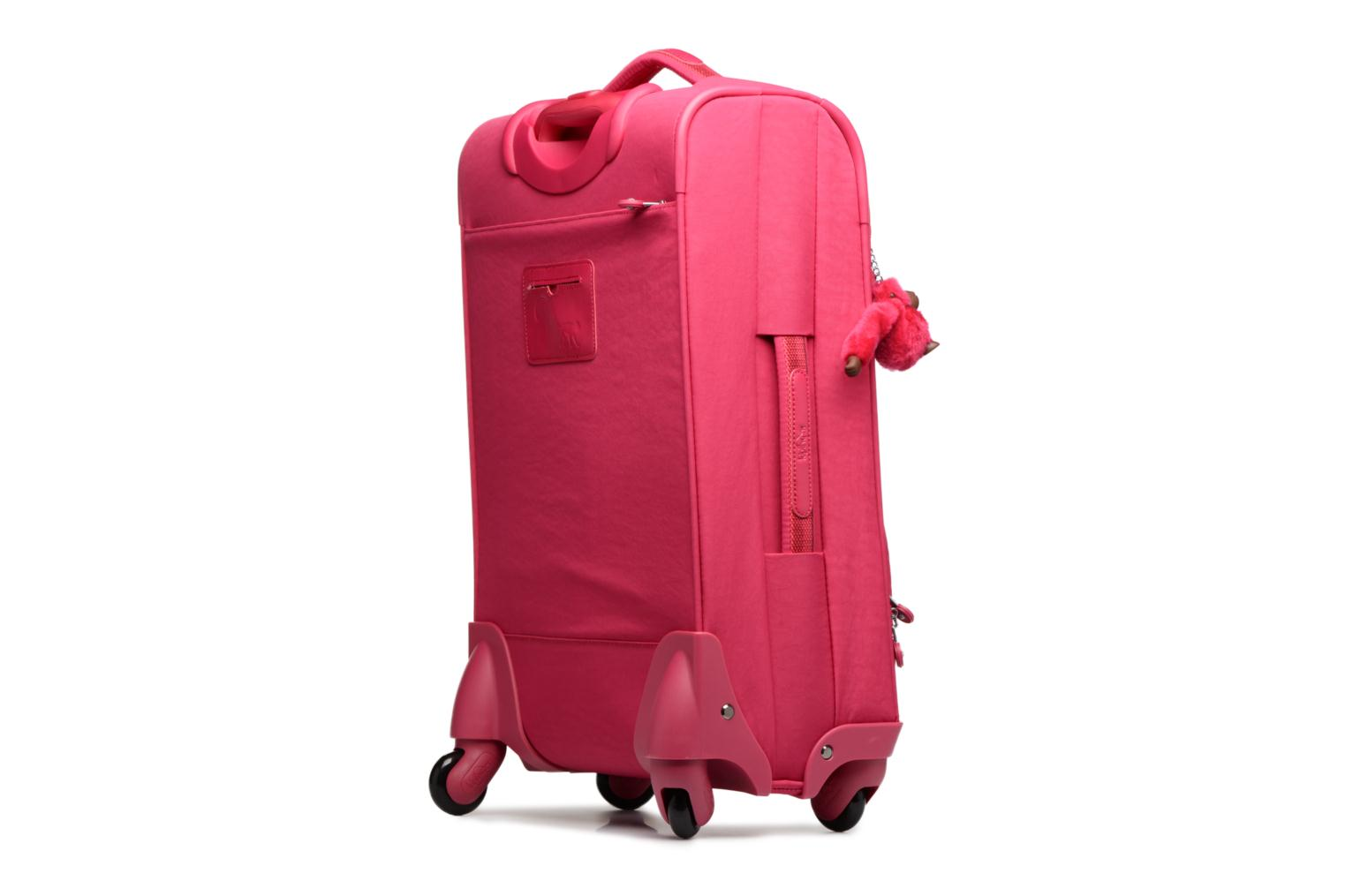 Bagages kipling YOURI SPIN 55 Rose vue droite