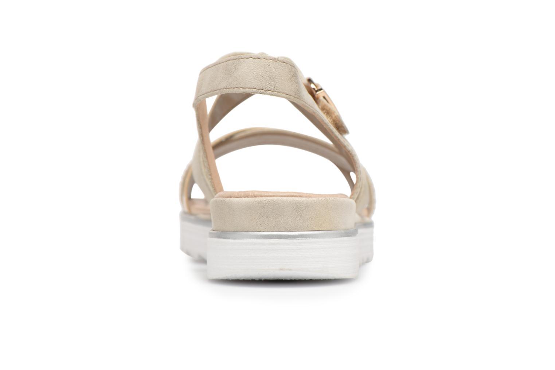 Sandales et nu-pieds Remonte Drew D1164 Beige vue droite