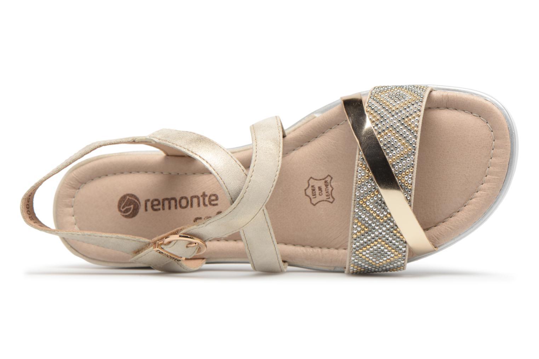 Sandales et nu-pieds Remonte Drew D1164 Beige vue gauche