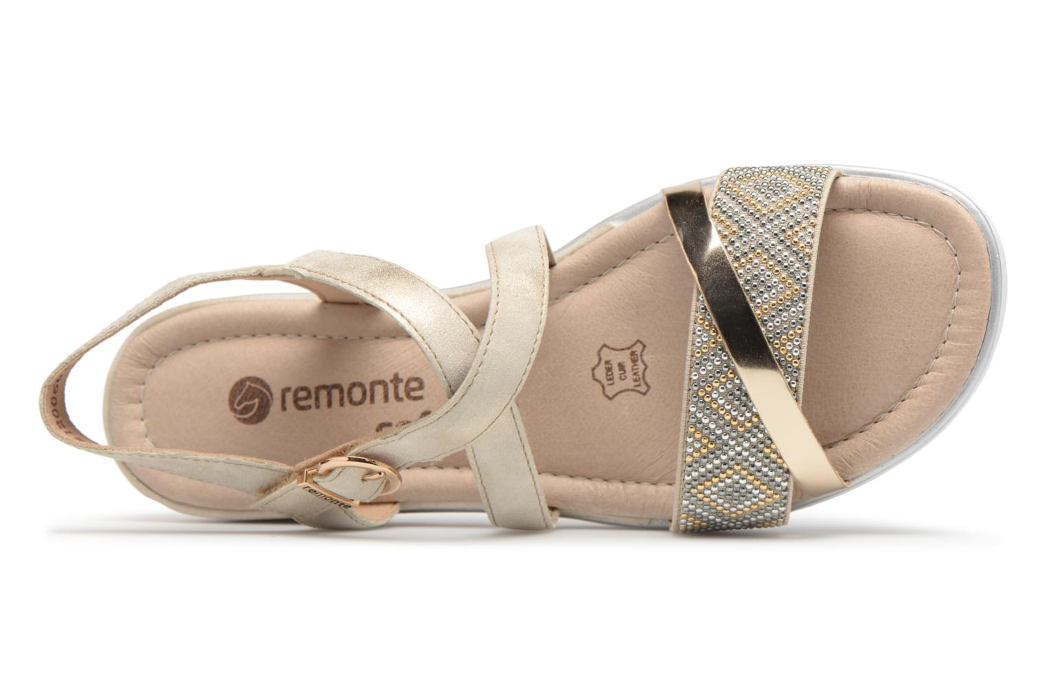 Sandals Remonte Drew D1164 Beige view from the left