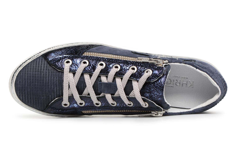 Baskets Khrio Manoti quadro zaffiro Bleu vue gauche