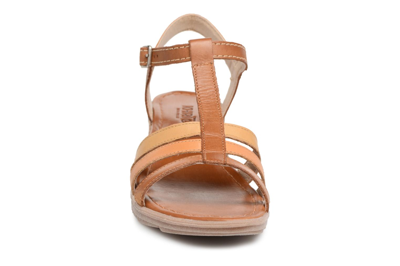 Sandales et nu-pieds Khrio Logaki mohair cuio Marron vue portées chaussures