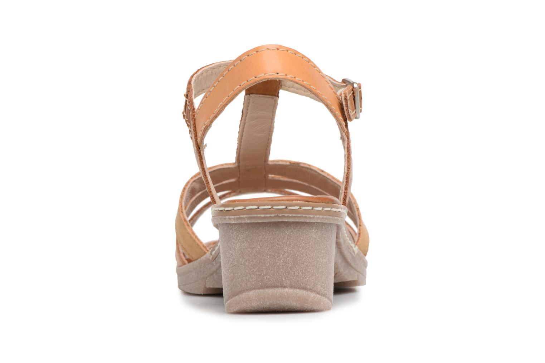 Sandales et nu-pieds Khrio Logaki mohair cuio Marron vue droite