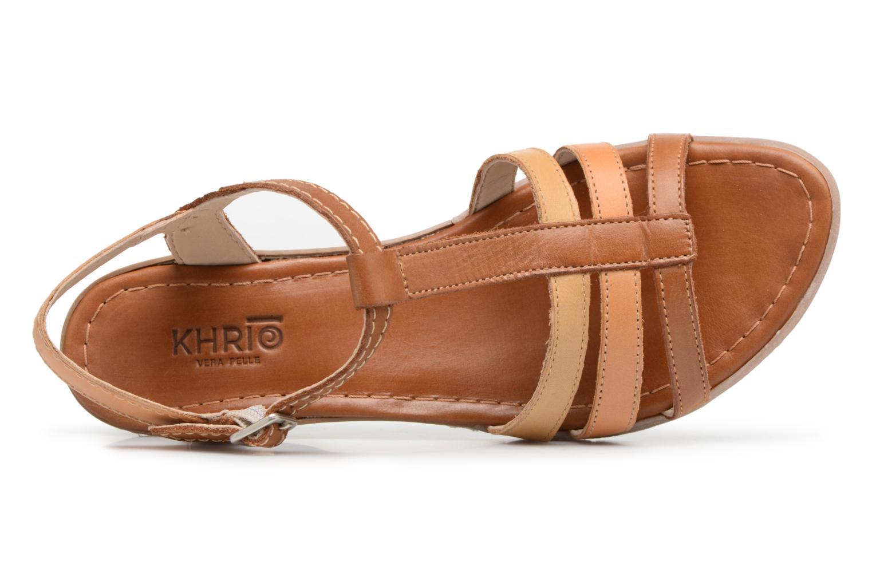 Sandales et nu-pieds Khrio Logaki mohair cuio Marron vue gauche