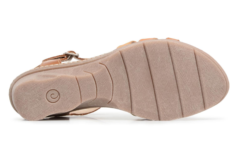 Sandales et nu-pieds Khrio Logaki mohair cuio Marron vue haut