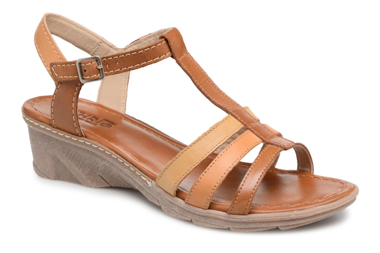 Sandales et nu-pieds Khrio Logaki mohair cuio Marron vue détail/paire