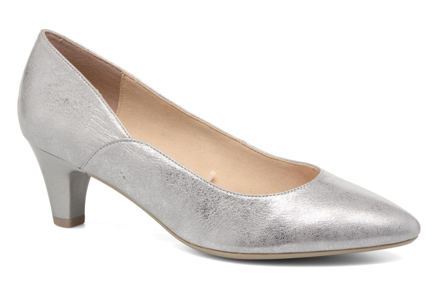 High heels Caprice Sarina Silver detailed view/ Pair view