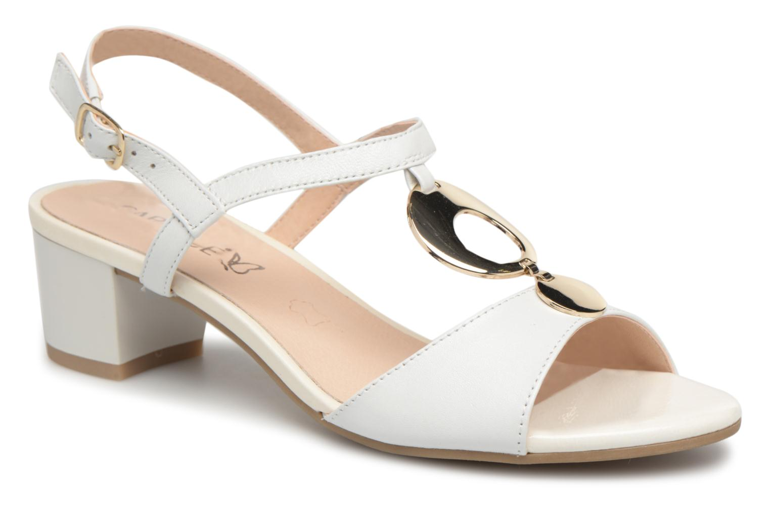 Marques Chaussure femme Caprice femme Nadelina White Perlato