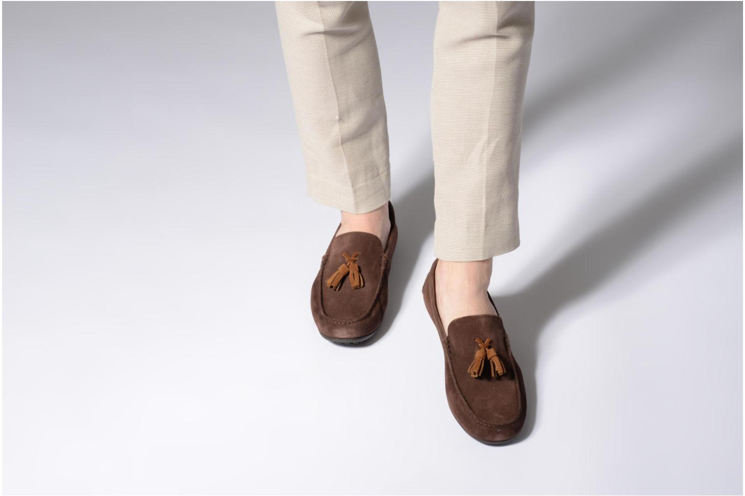 Loafers Marvin&co Saddington Brown view from underneath / model view