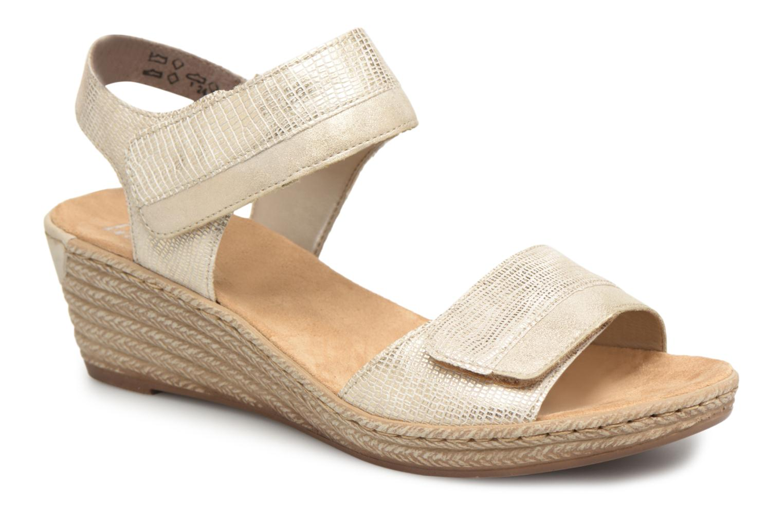 Zapatos promocionales Rieker Kathy 62470 (Oro y bronce) - Sandalias   Descuento de la marca