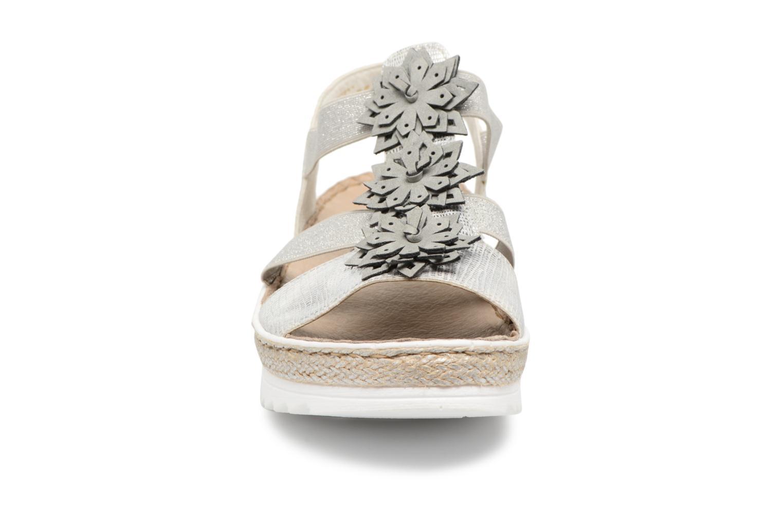 Sandales et nu-pieds Rieker Rylie V3266 Argent vue portées chaussures