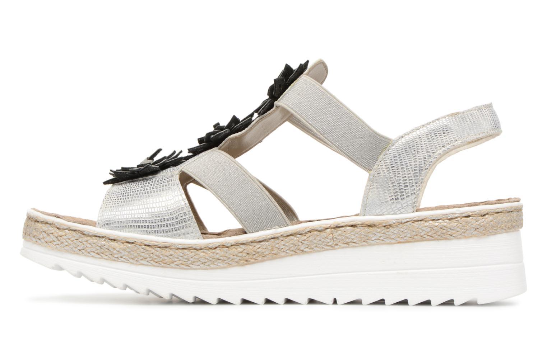 Sandales et nu-pieds Rieker Rylie V3266 Argent vue face