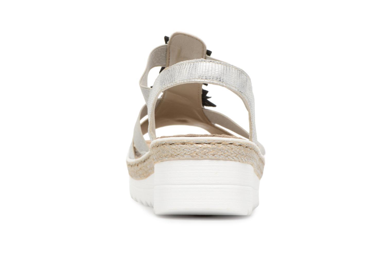 Sandales et nu-pieds Rieker Rylie V3266 Argent vue droite
