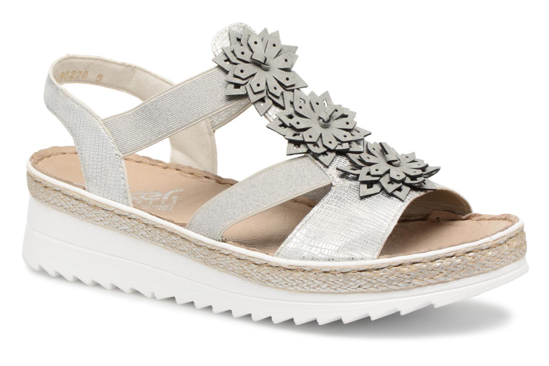 Womens V3266 Closed Toe Sandals, Silver Rieker