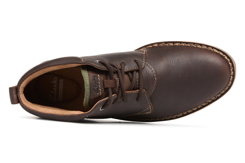Bottines et boots Clarks Edgewick Mid Marron vue gauche