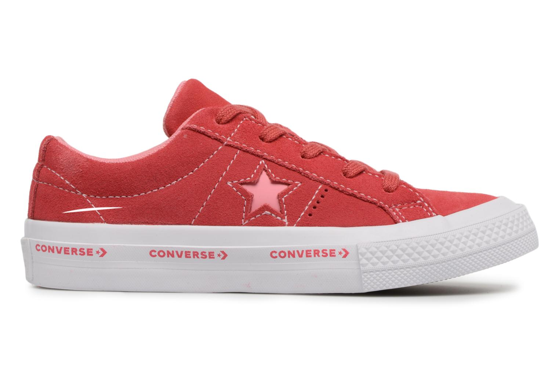 Hawaiian Ocean/Jolly Green/White Converse One Star Ox Converse Wordmark Suede (Bleu)