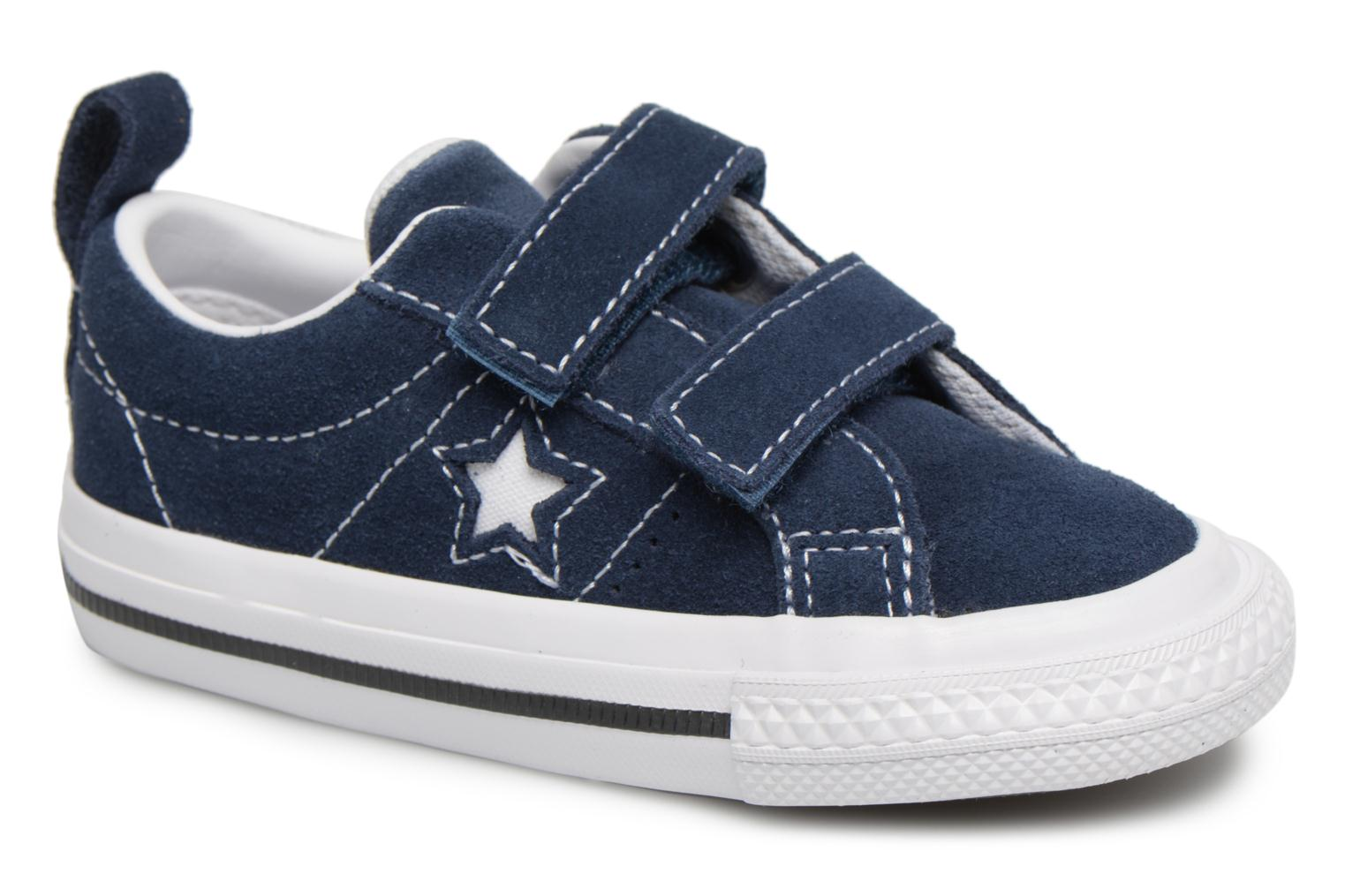 Navy/White/Black Converse Converse One Star Suede 2V Ox (Bleu)