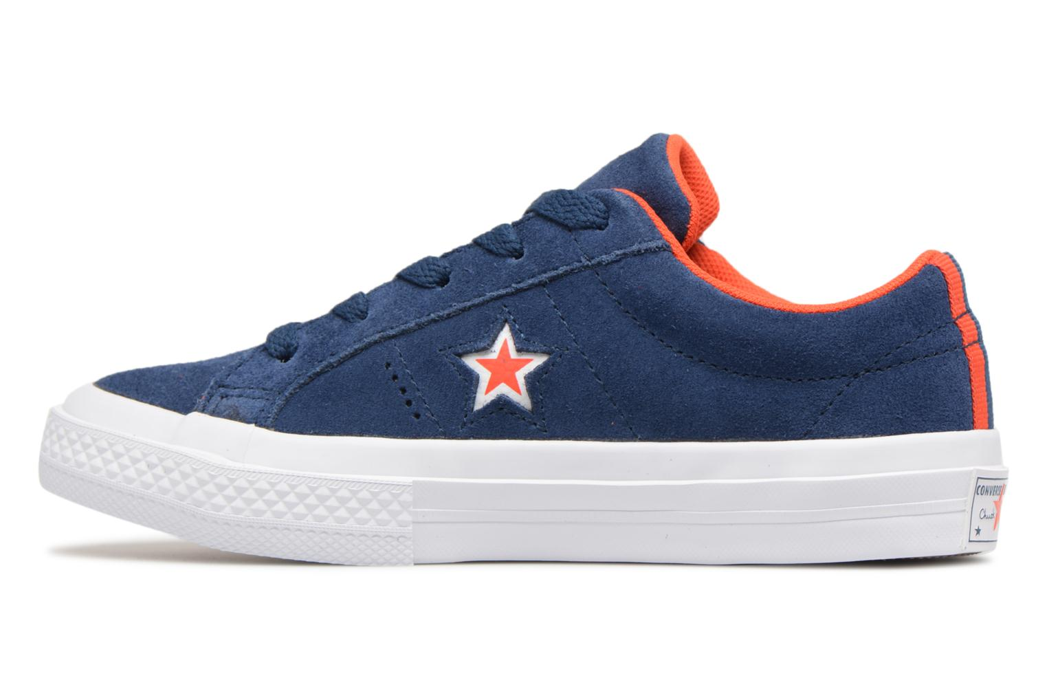 Sneakers Converse One Star Ox Molded Varsity Star Blauw voorkant